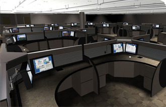 Wonderful Computer Workstation, Command Console Furniture, Control Center ...